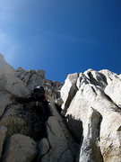 Rock Climbing Photo: eastern side: opting for an easier class 4-5 scram...