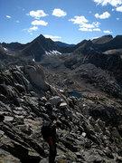 Rock Climbing Photo: starting down the Class 3 western descent