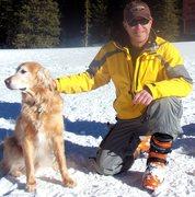 Rock Climbing Photo: Ranger and me, Cameron Pass, Winter 2010.
