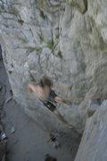 Rock Climbing Photo: Falling at the crux.