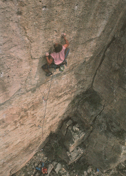 Rock Climbing Photo: Darryl Roth on Surreal Estate 5.12c, Bob D' mannin...