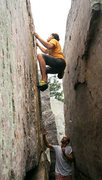 Rock Climbing Photo: One of the many good problems within the corridor ...