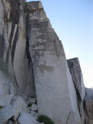 Rock Climbing Photo: Razor back climbs the tall block.  Starts on left ...