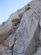 Rock Climbing Photo: Serrated Edge follows the broken right facing corn...