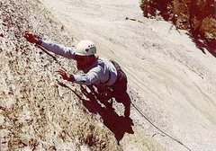 Rock Climbing Photo: David Nebel leading near the top of 2nd pitch. We ...