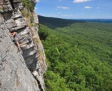 Rock Climbing Photo: Partway up P1.