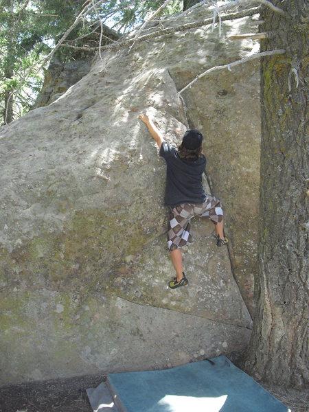 Carlo Rivas on Yellow Beard, Picnic Area, Pine Mountain.