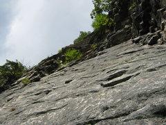 Rock Climbing Photo: 2nd pitch traverse (5.3 version)