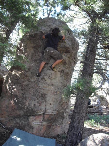 Carlo Rivas on Chong, Picnic Area, Pine Mountain.