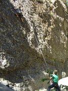 Rock Climbing Photo: Carlo Rivas on Cobble Climb, Wheeler Gorge. On TR.