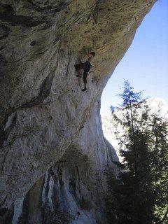 Rock Climbing Photo: Perspective, climbing across the cave. JWilliams