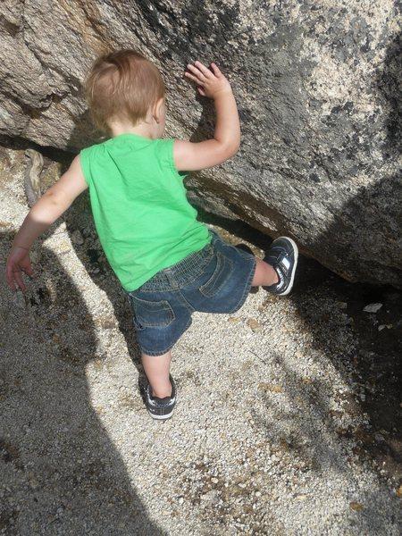 Rock Climbing Photo: Holdering!