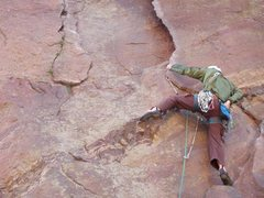 "Rock Climbing Photo: Showing ""normal"" cam low and good nut be..."