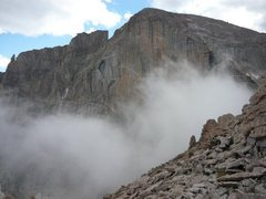 Rock Climbing Photo: clouds moving in on the decent