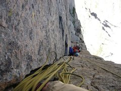 Rock Climbing Photo: belaying noah up on the 5th pitch