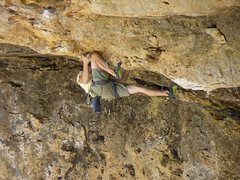 Rock Climbing Photo: past the crux. two bolts to the anchors.