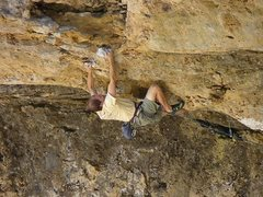 Rock Climbing Photo: last move before the alcove/hole/huge hueco.