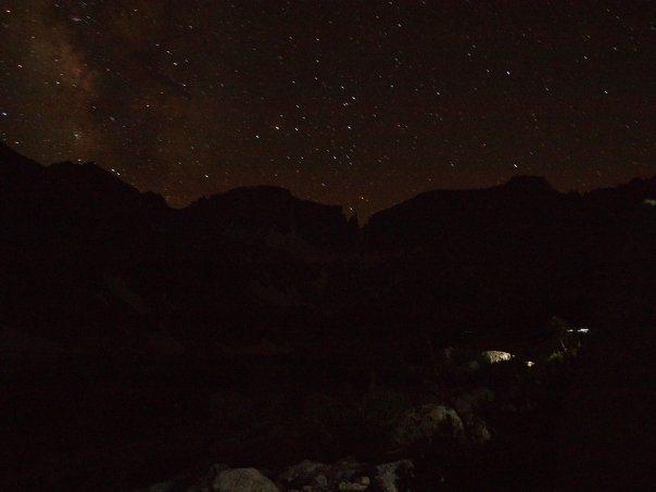 Rock Climbing Photo: Mt Abbot at night