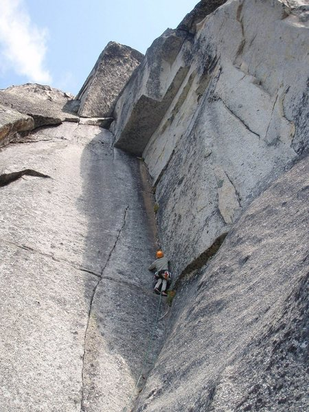 Stewart leading up pitch 5