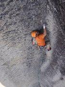 Rock Climbing Photo: Evan on pitch 4