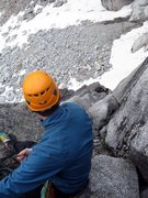 Rock Climbing Photo: Stewart belays Evan up pitch 2