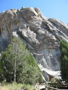 Rock Climbing Photo: Overview of route.
