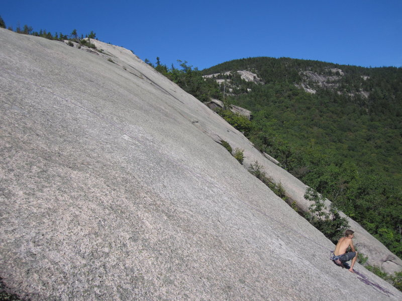 Rock Climbing Photo: Dickey's central and upper ledge and Dickey Traver...
