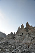 Rock Climbing Photo: Hiking down after a bluebird day on the Petit in S...