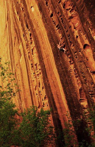 Rock Climbing Photo: Half way up