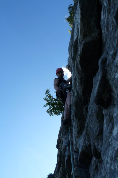 Rock Climbing Photo: Starting off the 2nd pitch