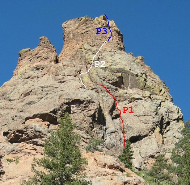 Rock Climbing Photo: Army Route's 3 pitches.