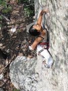 Rock Climbing Photo: Jill Hadap leading X Game.