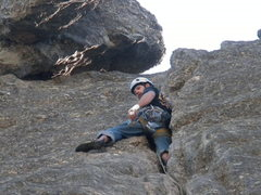 Rock Climbing Photo: Approaching the top on sweet jambs!