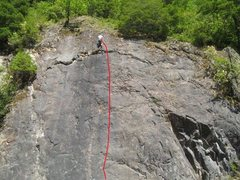 Rock Climbing Photo: Me at the top of Camel Back, with the climbing lin...