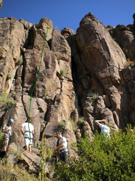 Rock Climbing Photo: Green - High Plains Whimper.