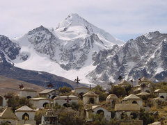 Rock Climbing Photo: mining cemetery below Huayna Potosi (Bolivia)