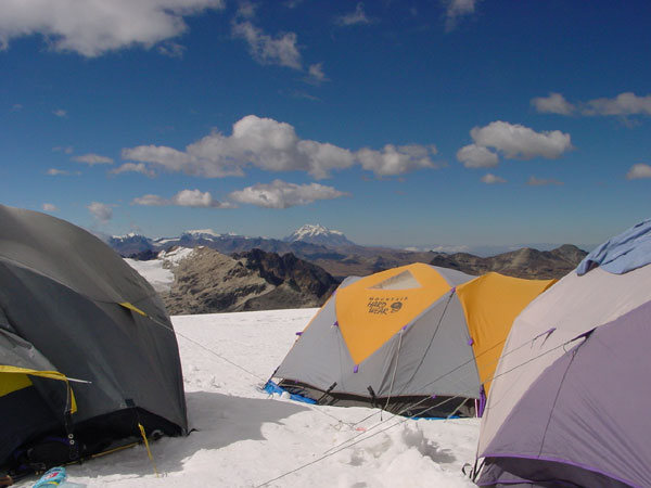 Huayna Potosi high camp (Bolivia)
