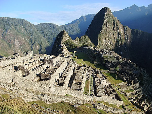 first light on Machu Picchu (Peru)