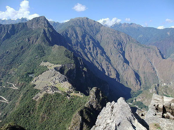 Machu Picchu from the first mini peak on the way to Huayna Picchu (Peru)