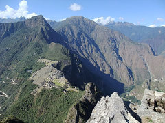 Rock Climbing Photo: Machu Picchu from the first mini peak on the way t...