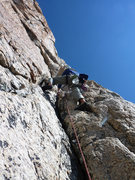 Rock Climbing Photo: Aaron Gams on pitch 1