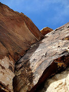 "Rock Climbing Photo: 5.9 lieback (""the book"") - could have us..."