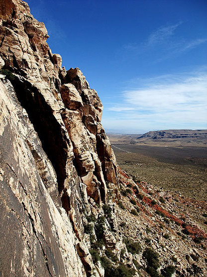 Rock Climbing Photo: looking back toward civilization