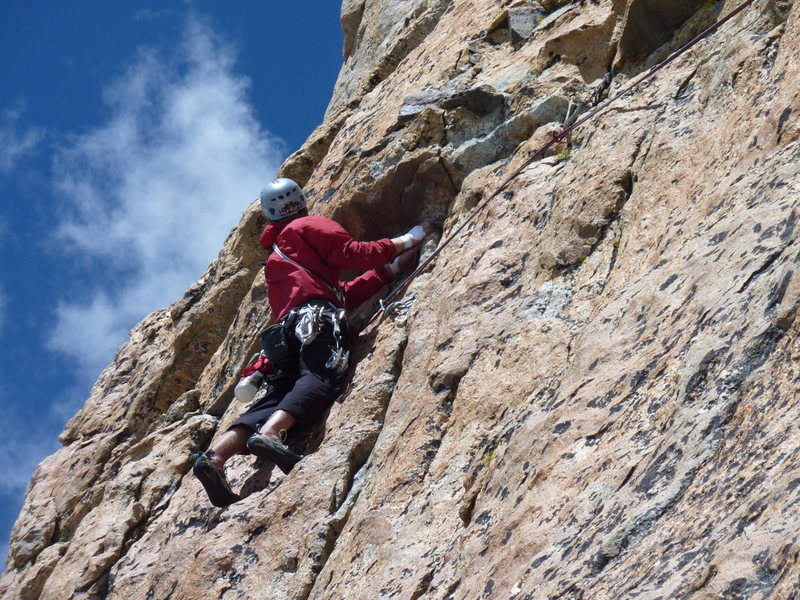 Brian Mulvihill near the end of pitch 2 on the first attempt.