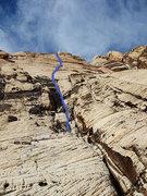 Rock Climbing Photo: P1 (per Handren, staring on Upper Solar Slab)