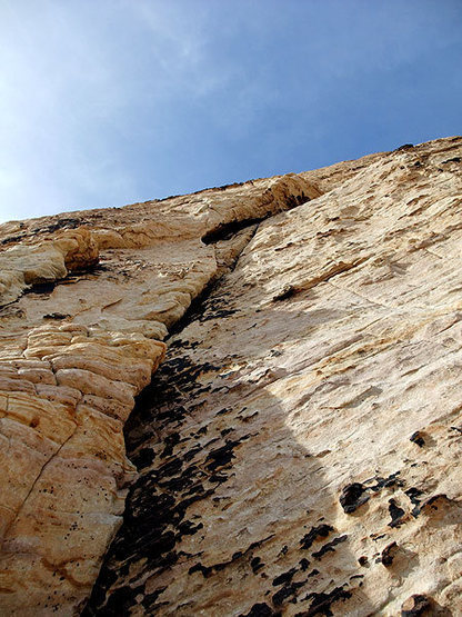 last pitch on sunflower (route goes left before the arch and diagonals up and left to meet up with Solar Slab)