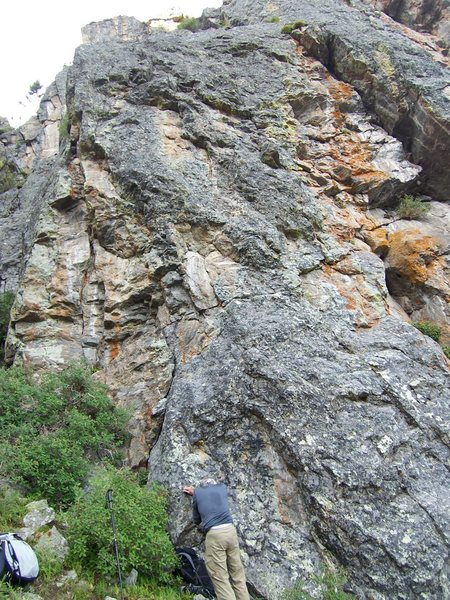 Rock Climbing Photo: The route....