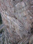 Rock Climbing Photo: The view of Creekafixion as seen from Playin' Hook...