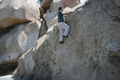 Rock Climbing Photo: Sean on a problem just right of the Beach Problem.