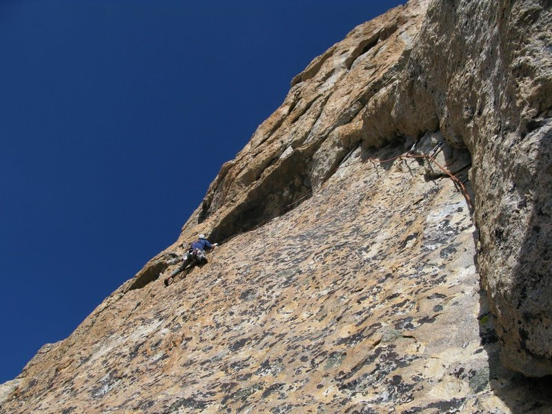 Rock Climbing Photo: Gams on pitch 2.